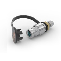 WEH® Receptacle TN1 H₂ for refuelling of cars, with tube Ø 10, filter 50 micron, 250 bar