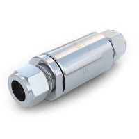 WEH® Check Valve TVR5 CNG for fuelling stations, with tube Ø 12 on both sides, 250 bar