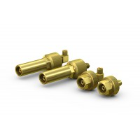 WEH® Connector TW67 for filling of gas cylinders with external thread, connection by hand-tightening, max. 250 bar / max. 375 bar